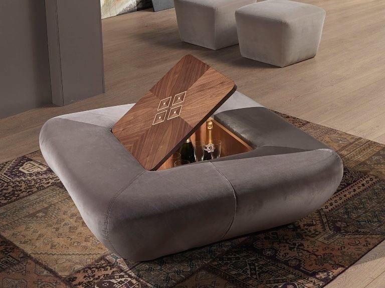 Storage leather pouf MORFEO | Pouf - Carpanelli Contemporary