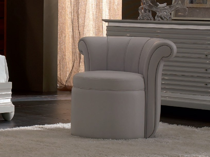 Upholstered leather easy chair ELETTRA NIGHT | Easy chair by Cantiero