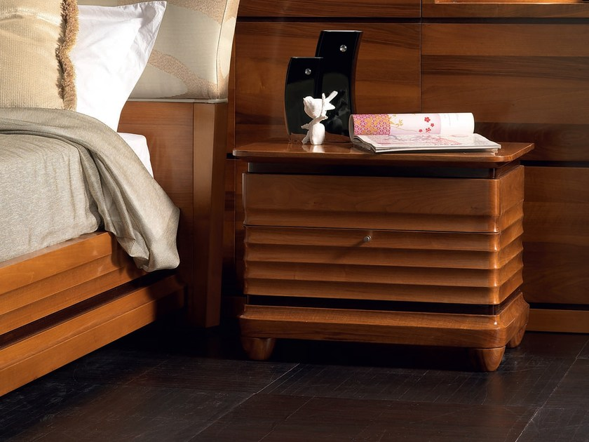 Rectangular solid wood bedside table with drawers ELETTRA NIGHT | Bedside table - Cantiero