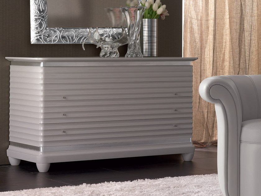 Lacquered solid wood dresser ELETTRA NIGHT | Solid wood dresser - Cantiero