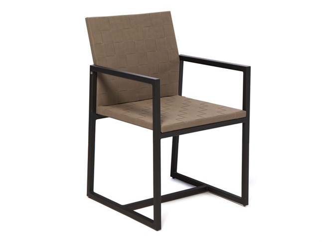 Sled base aluminium garden armchair with armrests OTTO | Garden armchair - Il Giardino di Legno