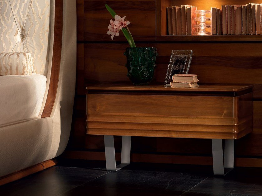Wooden bedside table with drawers ELETTRA NIGHT | Rectangular bedside table by Cantiero
