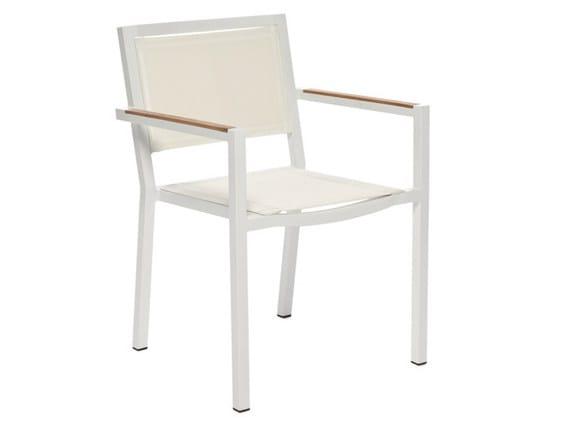 Aluminium garden armchair with armrests LEI | Garden armchair - Il Giardino di Legno
