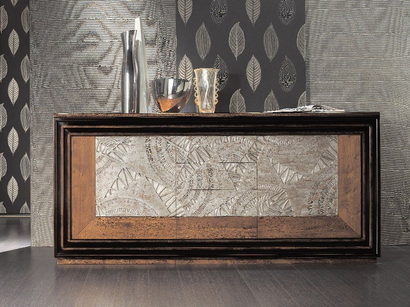 Silver leaf sideboard with doors with drawers ÉTOILE DAY | Sideboard with drawers by Cantiero
