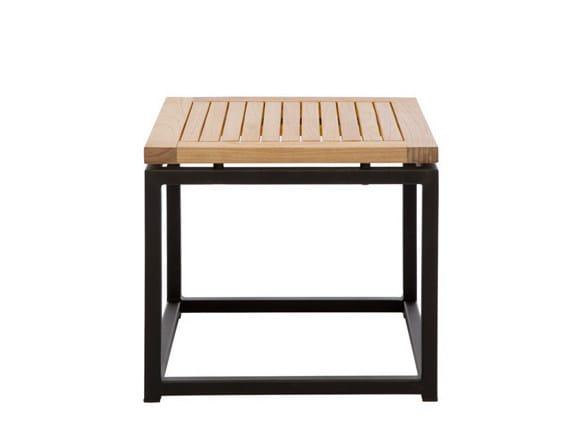 Low Square garden side table LUI | Square garden side table - Il Giardino di Legno