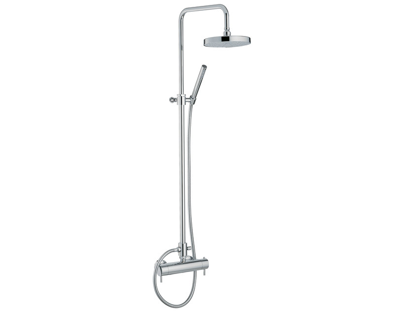 Thermostatic shower mixer with hand shower with overhead shower VELA | Thermostatic shower mixer with overhead shower - Rubinetterie 3M