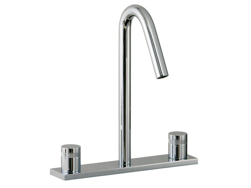 Countertop washbasin tap with plate X-CHANGE | Washbasin tap with plate by Rubinetterie 3M