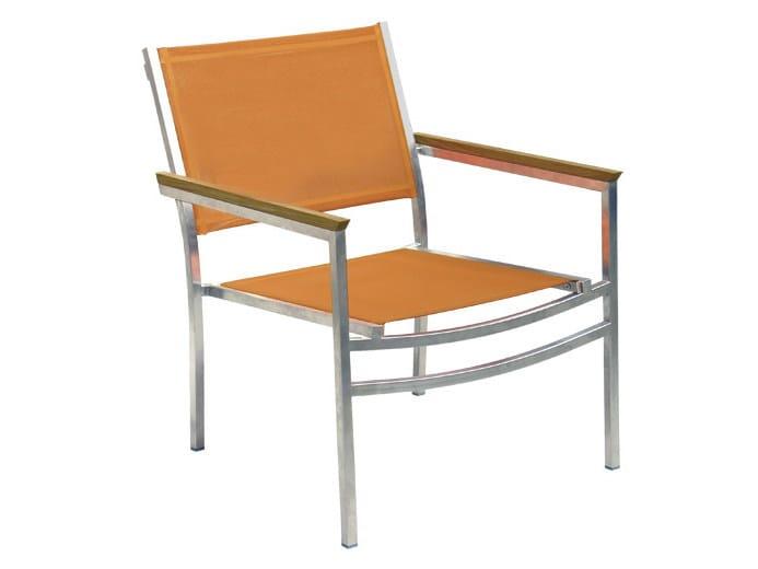 Polyester fibre garden armchair with armrests MILLENIUM | Garden armchair by Il Giardino di Legno