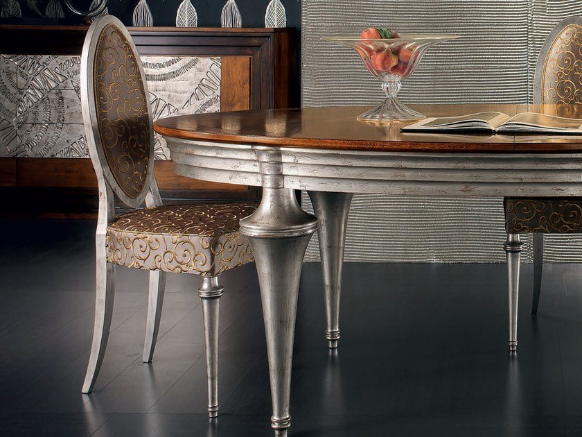 Medallion silver leaf chair ÉTOILE DAY | Silver leaf chair - Cantiero