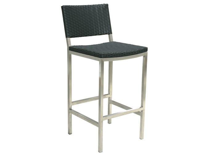 High steel garden stool HALTO | Polyethylene garden stool - Il Giardino di Legno