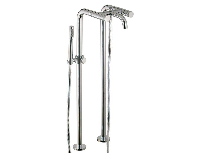 Floor standing bathtub tap with hand shower X-CHANGE | Floor standing bathtub tap by Rubinetterie 3M