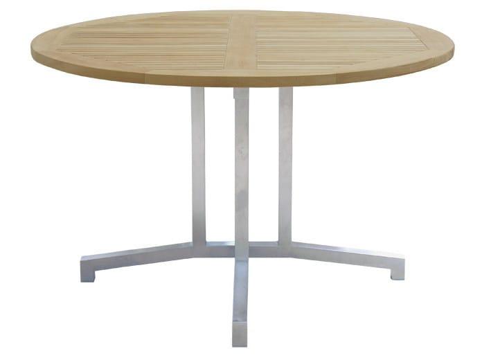 Round steel garden table LUNAR | Round garden table - Il Giardino di Legno