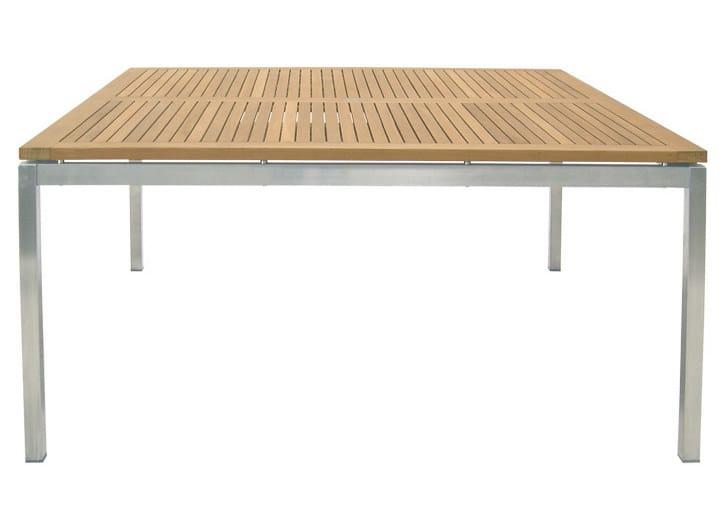 Tavolo da giardino quadrato in acciaio lunar tavolo da for Tavolo legno acciaio