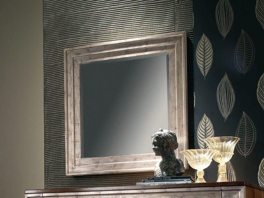 Wall-mounted framed rectangular silver leaf mirror ÉTOILE NIGHT | Mirror - Cantiero