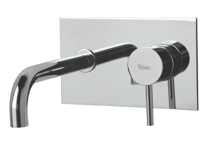 Wall-mounted washbasin mixer with plate X-CHANGE_MONO | Wall-mounted washbasin mixer - Rubinetterie 3M