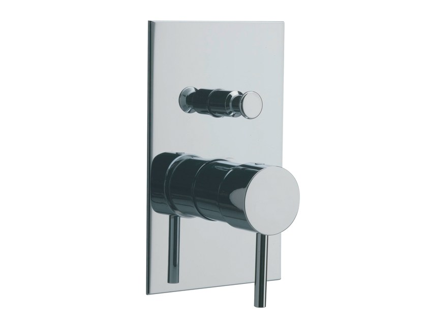 Single handle shower/bath mixer with plate X-CHANGE_MONO | Shower mixer with plate by Rubinetterie 3M