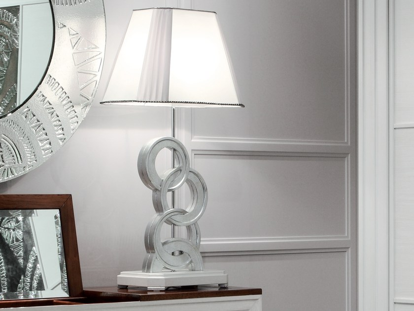 Silver leaf bedside lamp ÉTOILE NIGHT | Silver leaf bedside lamp by Cantiero