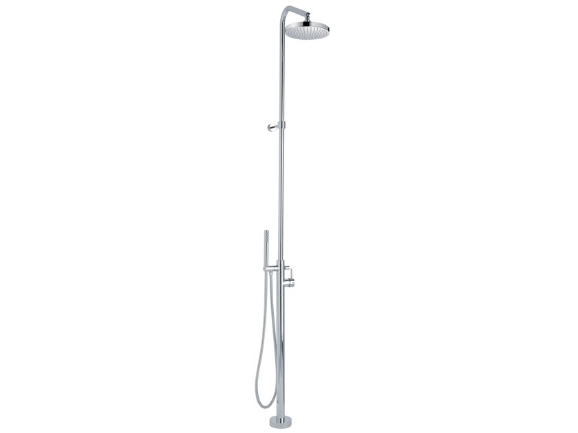 Shower mixer with hand shower and overhead shower X-CHANGE_MONO | Floor standing shower panel - Rubinetterie 3M
