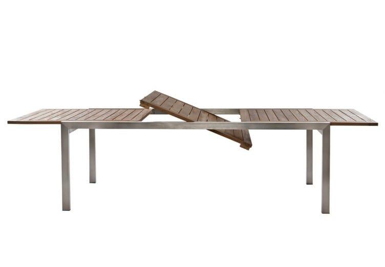 Extending Rectangular garden table DANDY - Il Giardino di Legno