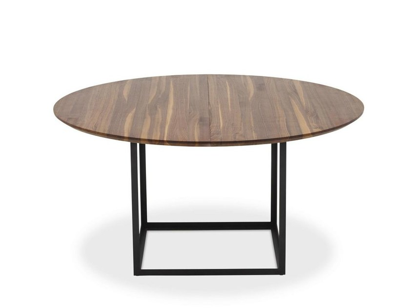 Extending round walnut table JEWEL TABLE | Walnut table - dk3