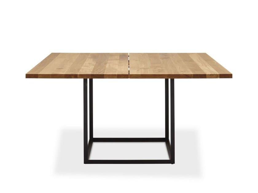 Extending square oak table JEWEL TABLE | Square table - dk3
