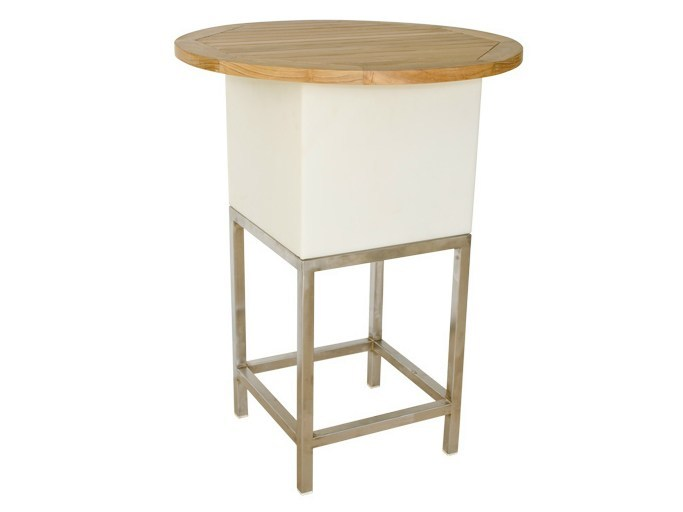 High Round garden side table MOOD | Round garden side table - Il Giardino di Legno