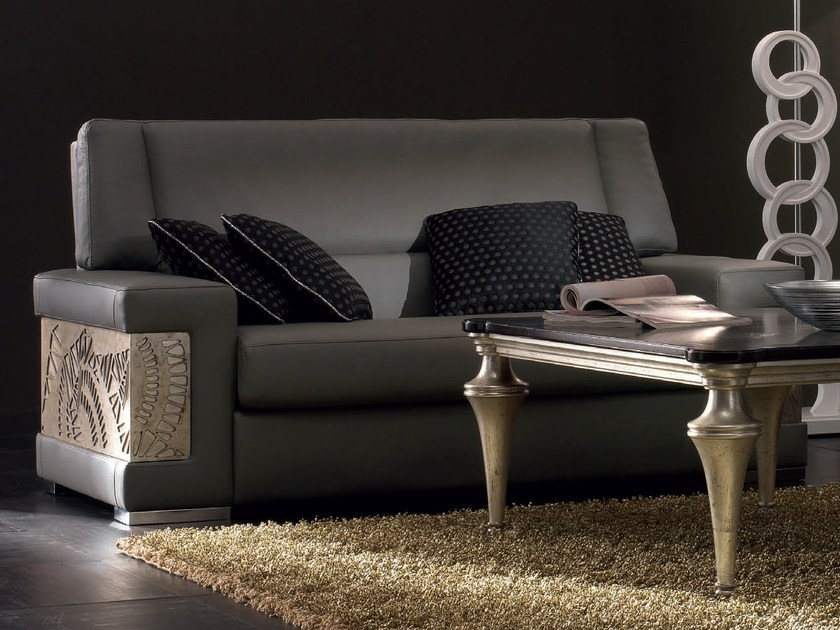2 seater leather sofa ÉTOILE DAY | Leather sofa by Cantiero