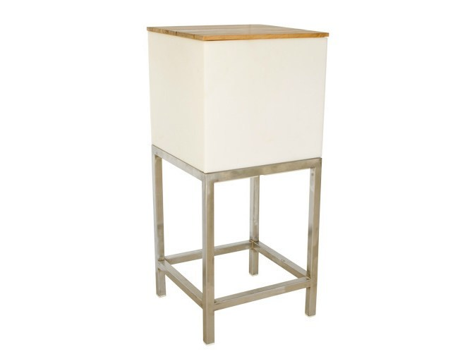High Square garden side table MOOD | High garden side table by Il Giardino di Legno