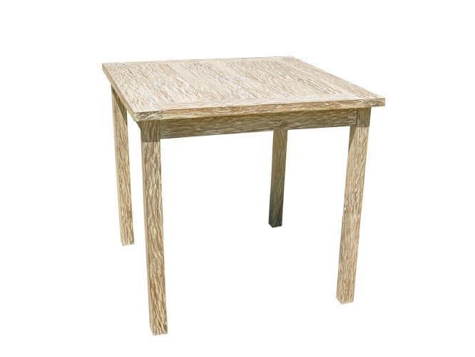 Square wooden garden table WHITE SAND | Square garden table - Il Giardino di Legno