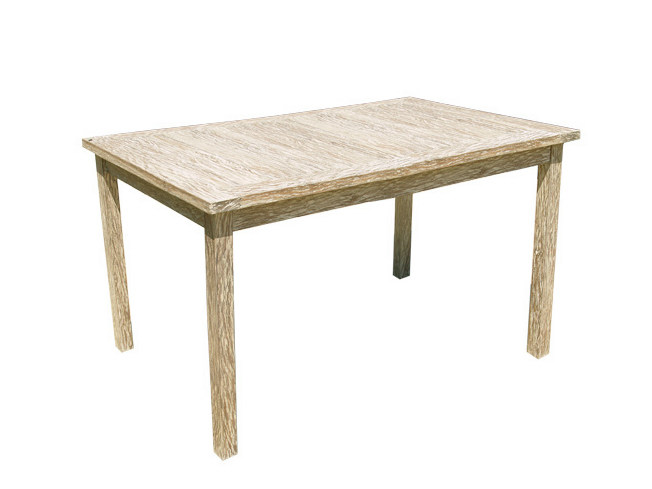 Rectangular wooden garden table WHITE SAND | Rectangular garden table by Il Giardino di Legno