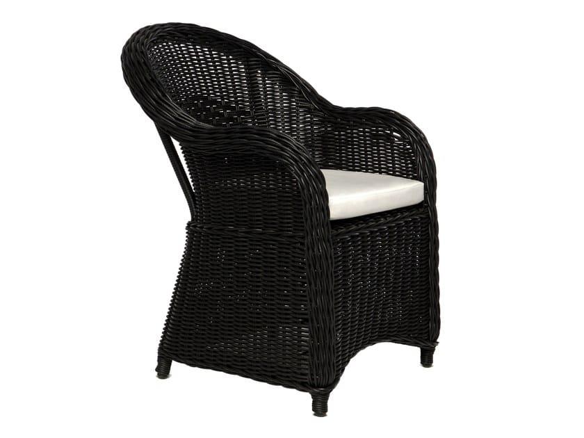 Synthetic fibre garden armchair with armrests WAPITI | Garden armchair by Il Giardino di Legno