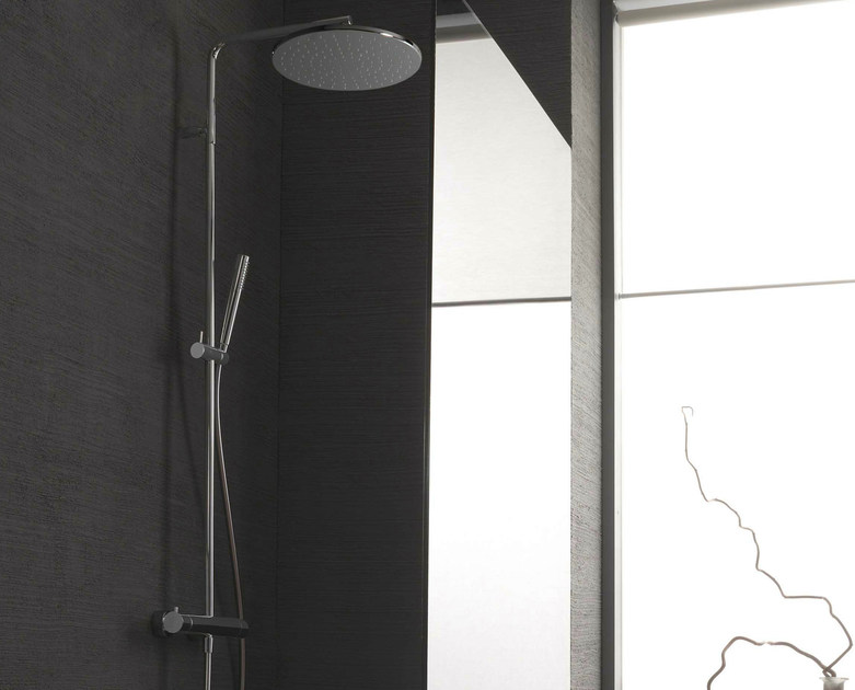 Shower panel with hand shower with overhead shower SHOWERS | Shower panel - Rubinetterie 3M