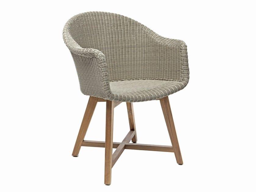 Synthetic fibre garden armchair with armrests GIPSY | Garden armchair - Il Giardino di Legno