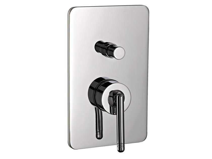 Single handle shower/bath mixer with plate PHILO | Shower mixer with plate by Rubinetterie 3M