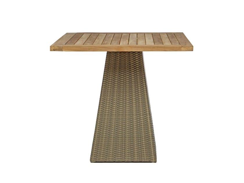 Square garden table GIPSY | Square garden table - Il Giardino di Legno
