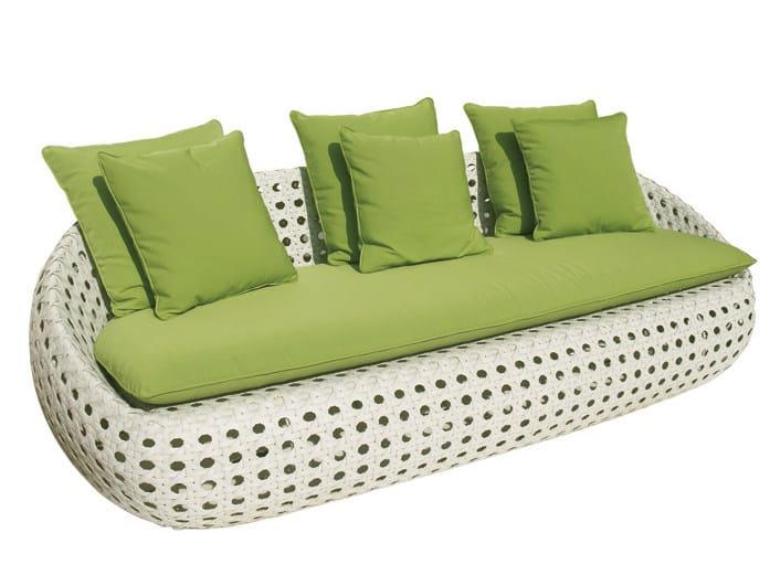 3 seater synthetic fibre garden sofa ISABEL   Garden sofa - Il Giardino di Legno