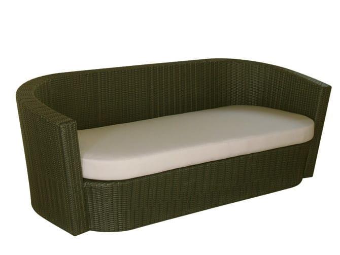 3 seater synthetic fibre garden sofa SENTOSA | Garden sofa - Il Giardino di Legno