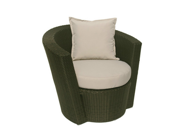 Synthetic fibre garden armchair with armrests SENTOSA | Garden armchair - Il Giardino di Legno