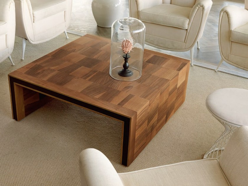 Low square wooden coffee table H-119 | Coffee table by Dale Italia