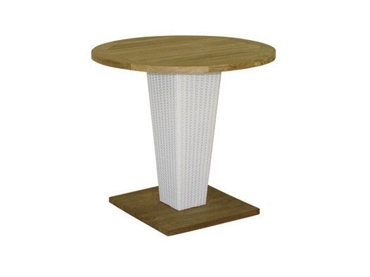 Round synthetic fibre garden table SENTOSA | Round garden table - Il Giardino di Legno