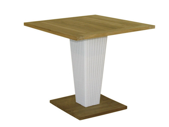 Square synthetic fibre garden table SENTOSA | Square garden table - Il Giardino di Legno