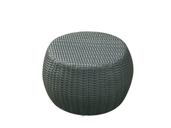 Synthetic fibre garden pouf / garden side table SENTOSA | Garden pouf by Il Giardino di Legno