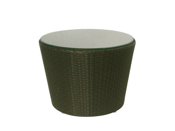 Low Round synthetic fibre garden side table SENTOSA | Round garden side table - Il Giardino di Legno