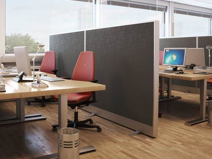 Sound absorbing glass wool workstation screen Akusto™ Screen A by Saint-Gobain ECOPHON