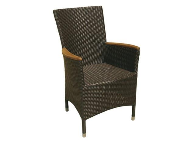 Synthetic fibre garden armchair with armrests high-back MAUI | Garden armchair - Il Giardino di Legno