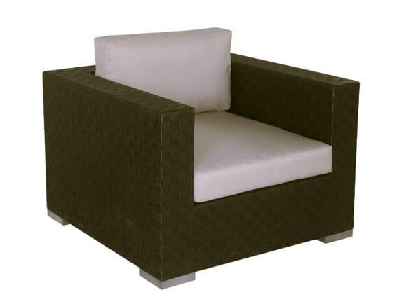 Synthetic fibre garden armchair with armrests MAUI | Garden armchair - Il Giardino di Legno