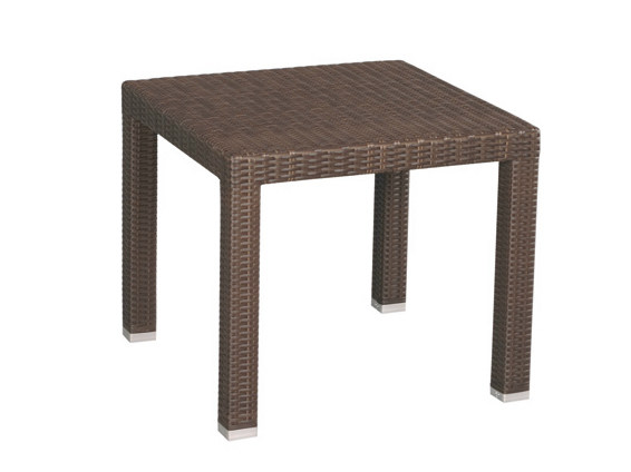 Square synthetic fibre garden table MAUI | Square garden table by Il Giardino di Legno