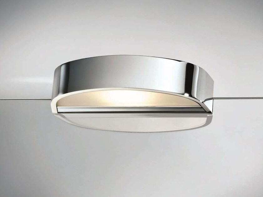 Chrome plated mirror lamp with clamp WAVE 1 - DECOR WALTHER