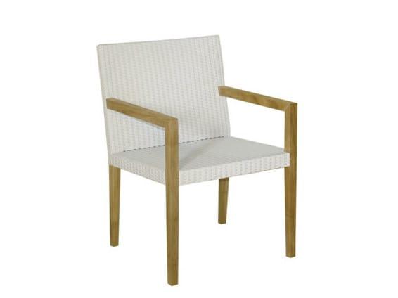 Synthetic fibre garden armchair with armrests FIJI | Garden armchair - Il Giardino di Legno