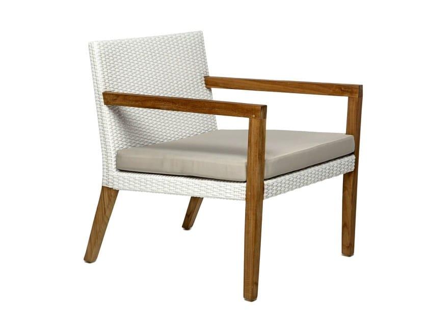 Synthetic fibre garden armchair with armrests FIJI | Garden armchair with armrests - Il Giardino di Legno